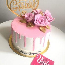 Torta Dripcake Rosada