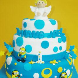 Torta Bautizo y Cumpleaños