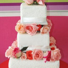 Torta Matrimonio Rosas