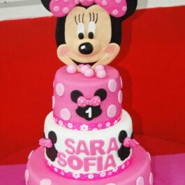Torta Minnie Rosada