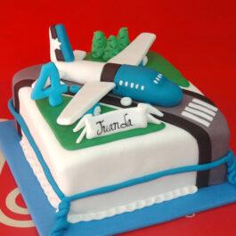 Torta Avión Azul