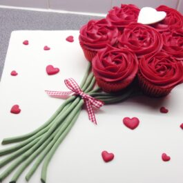Rosas de cupcakes