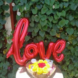 Canasta corazón love