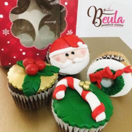 Cajita cupcakes navidad